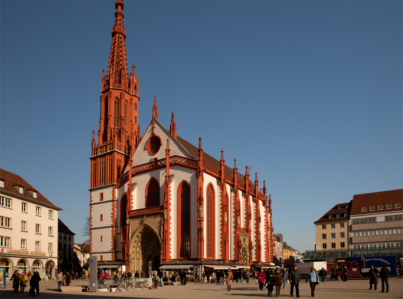 Wuerzburg, St. Mary's Chapel and Market Place, © by Bernhard Häusler, Germany
